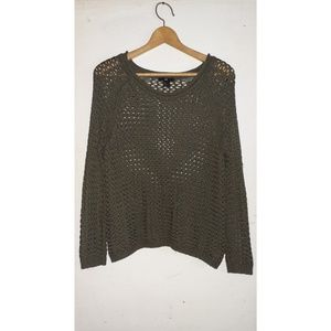 |H&M OLIVE GREEN KNIT SWEATER|